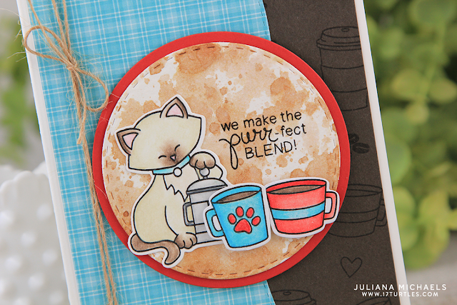 Purrfect Blend Coffee Card by Juliana Michaels featuring Newton's Nook Designs Newton Loves Coffee