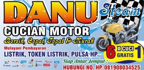 Contoh Spanduk Cuci Motor