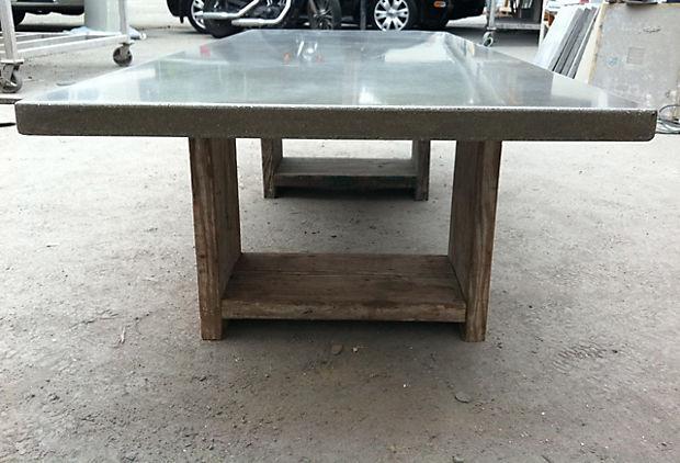 designer eco eco diy feature concrete table. Black Bedroom Furniture Sets. Home Design Ideas