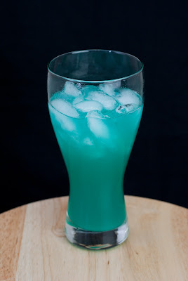 liquid marijuana cocktail, mary jane, malibu rum, coconut rum, light rum, blue curacao, apple pucker, sweet & sour mix, pineapple juice