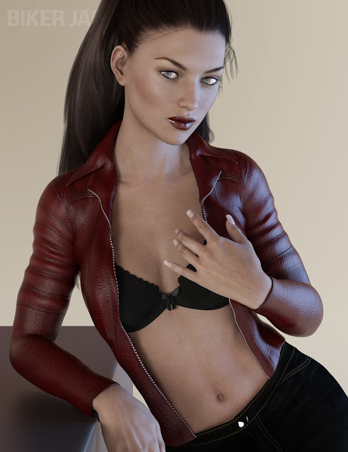 X-Fashion Biker Jacket for Genesis 3 Female