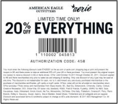 Find the best American Eagle coupons, promo codes and deals for February 12222