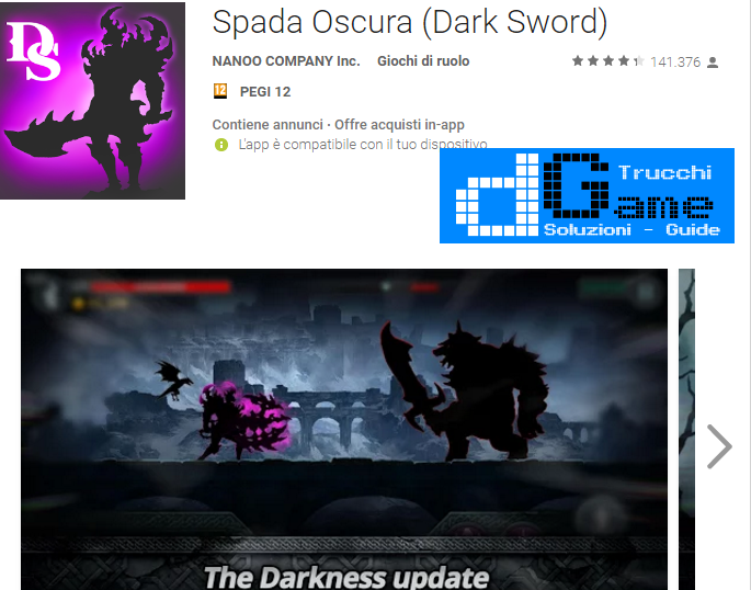 Trucchi Dark Sword (Spada Oscura) Mod Apk Android v1.6.0