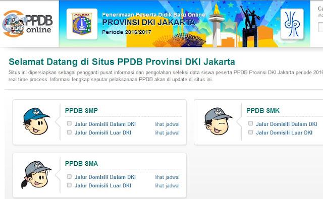 Situs PPDB Online Jakarta 2016 Diganti_Ini Daftar Alamat Website Resmi PPDB Online SMP, SMA, dan SMK Negeri DKI Jakarta Tahun Pelajaran 2016/2017 Terbaru