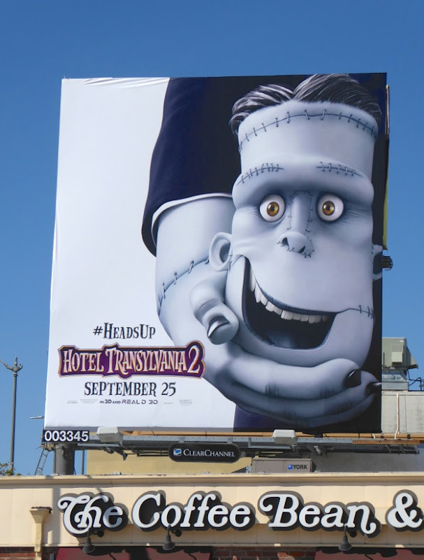 Heads Up Hotel Transylvania 2 movie billboard