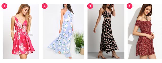floral dresses shein under $30