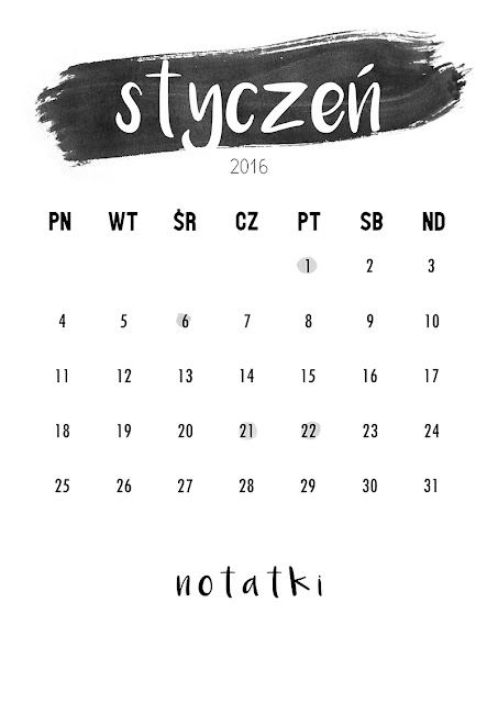 kalendarz do druku darmowy