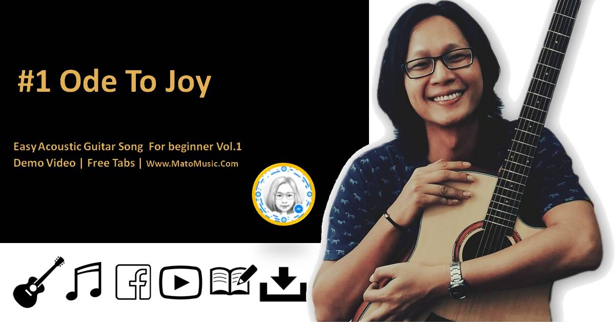 Ode To Joy Acoustic Tabs For Beginner    Video   Tabs by Mato Music
