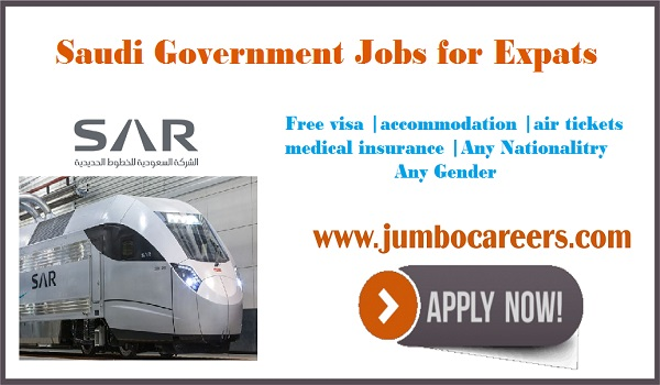 Latest Saudi rail company jobs for Indians, Available jobs in Saudi Arabia,