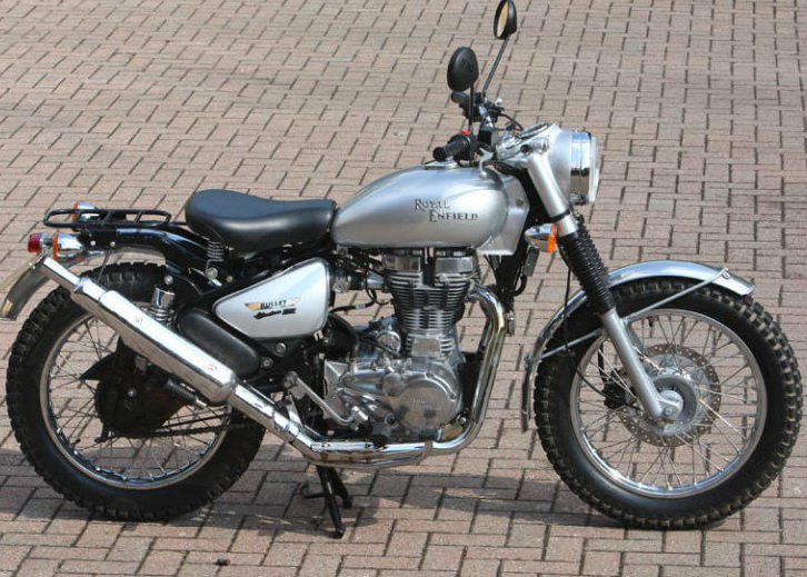 Royal enfield 500 scrambler leaked photos launch this year march