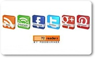 3D Social Buttons With Rotate Spin Effect For Wordpress And Blogger