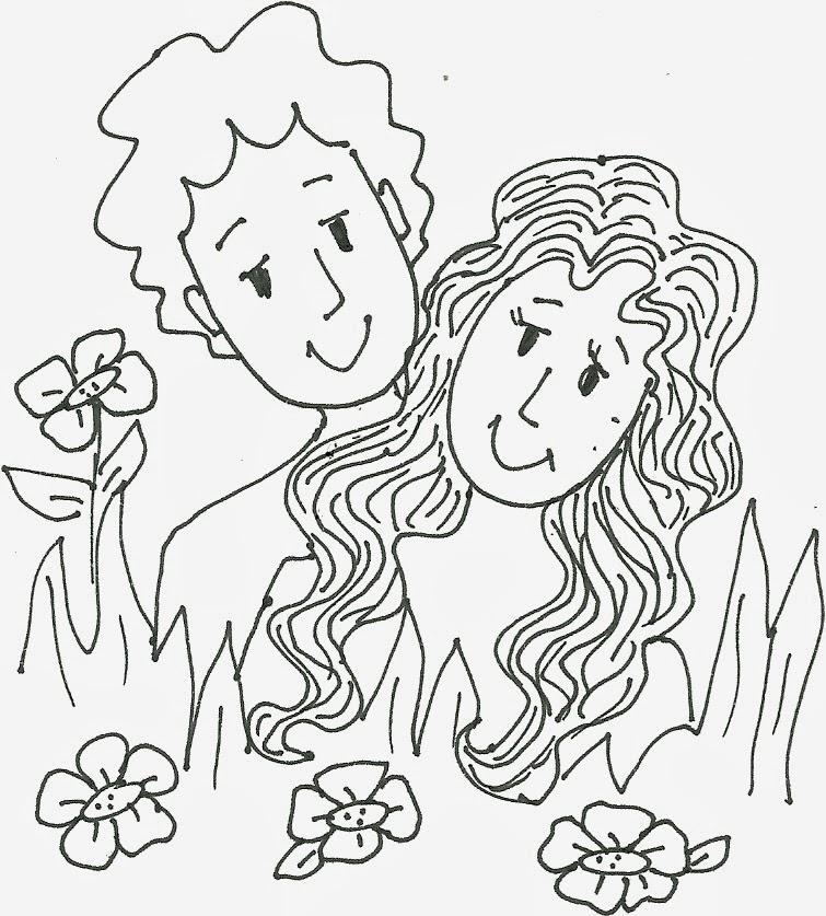 Hermosa Adán Y Eva Colorear Páginas Para Imprimir Viñeta - Dibujos ...