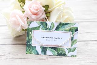 """bracelet argenté """"lilas mood"""""""