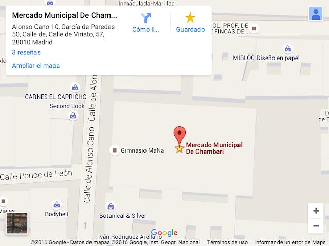 Ubicación y localización Mercado de chamberí