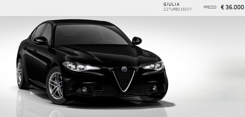 Alfa Romeo Giulia colore Pastello-Nero Alfa