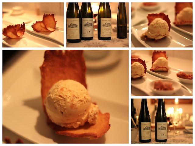 Marzipan-Bratapfel-Eis in der Mandelhippe nach einem Rezept von Lea Linster | Arthurs Tochter kocht. Der Blog für Food, Wine, Travel & Love von Astrid Paul