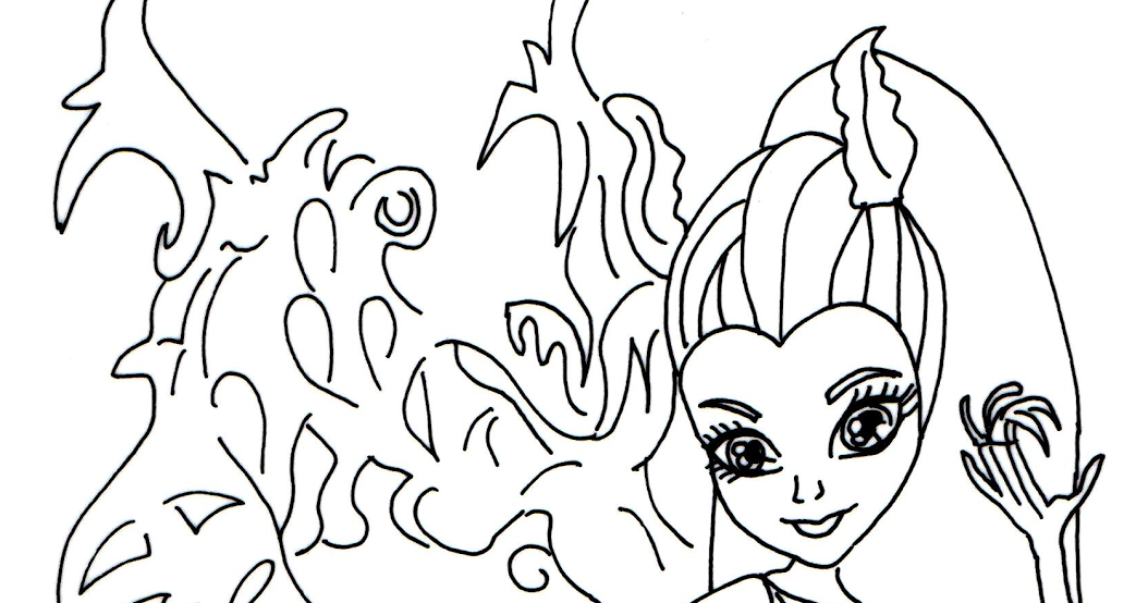 Free Printable Monster High Coloring Pages: Bonita Femur
