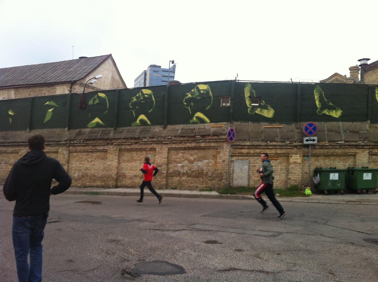 Running at the beer marathon in Vilnius