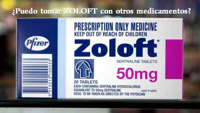 ¿Puedo tomar ZOLOFT con otros medicamentos?