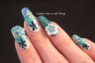 flower nail art ideas