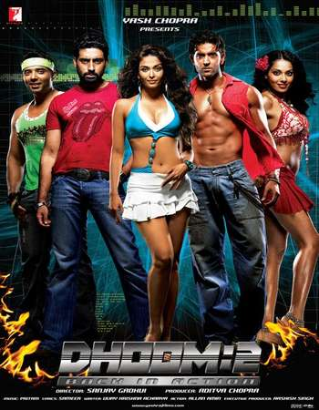 Poster Of Dhoom 2 2006 Hindi 650MB  720p  HEVC Watch Online Free Download worldfree4uk.com