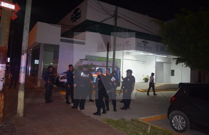 Comando mata a reo que esperaba atención en hospital de Cancún