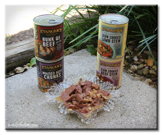Evanger's Slow Cooked Stews and Hand Packed Meats for dogs