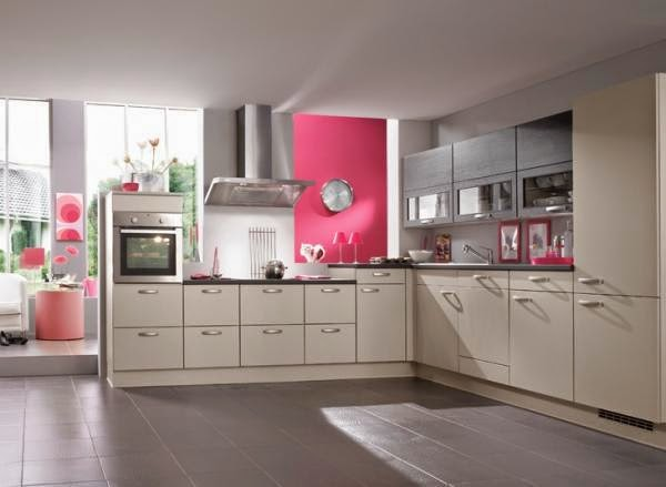 red kitchen, kitchen shade - Fashionable Kitchen Color Ideas