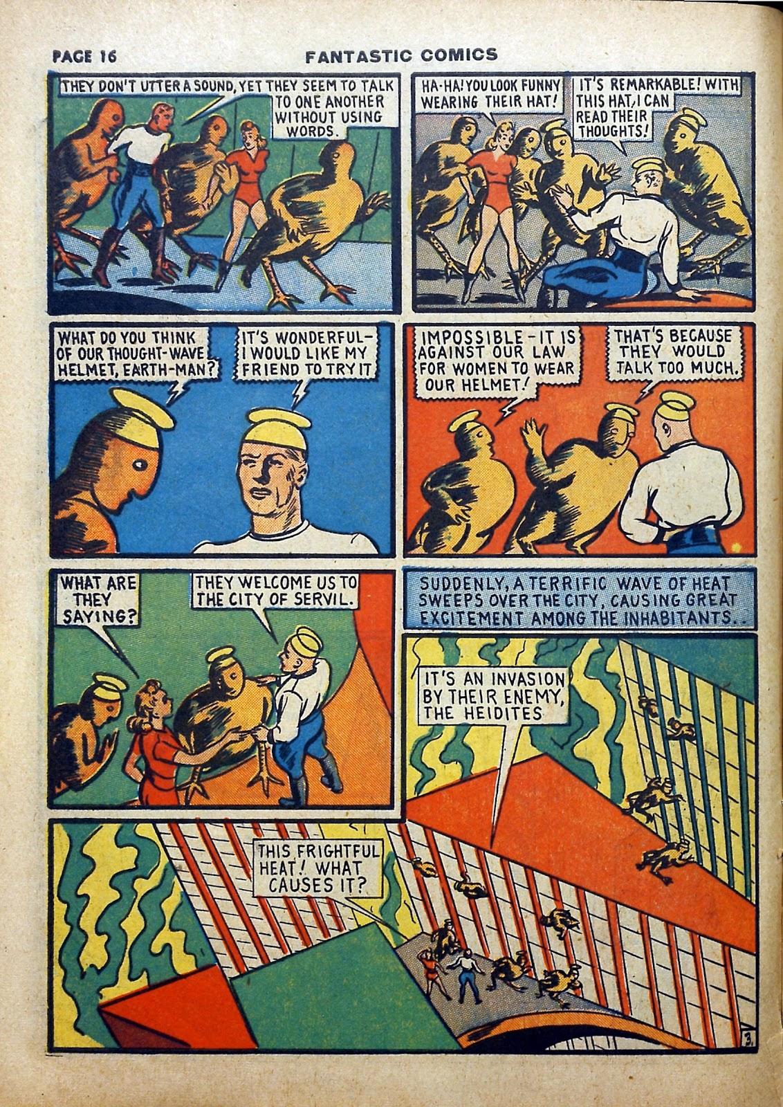 Read online Fantastic Comics comic -  Issue #5 - 17
