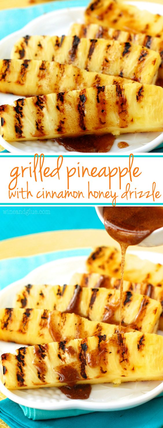 ★★★★☆ 2004 rating     | GRILLED PINEAPPLE WITH CINNAMON HONEY DRIZZLE #GRILLED #PINEAPPLE #CINNAMON #HONEY #DRIZZLE