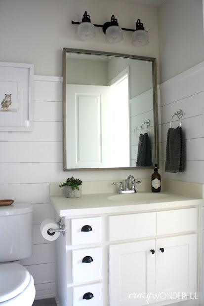 Shiplap Walls Bathroom