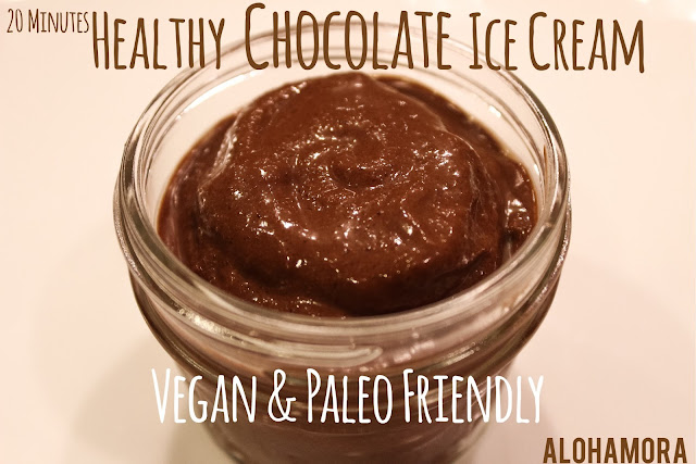 20 MInutes Healthy Vegan Paleo Friendly Chocolate Ice Cream.  This ice cream is delicious and the ingredients will surprise you.  Dairy free, rich, creamy, flavorful, and no added sugar.  Diet friendly. Easy and Quick to make in your blender. Blendtec,dates, avocado. Perfect healthy Memorial weekend treat. Alohamora Open a Book http://alohamoraopenabook.blogspot.com/