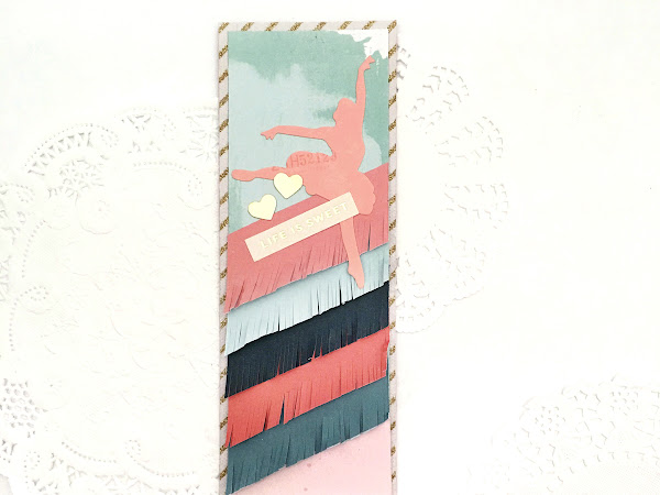 Crate Paper Design Team : Fringed Bookmark