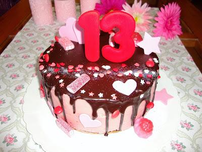 Drip cake de corazones