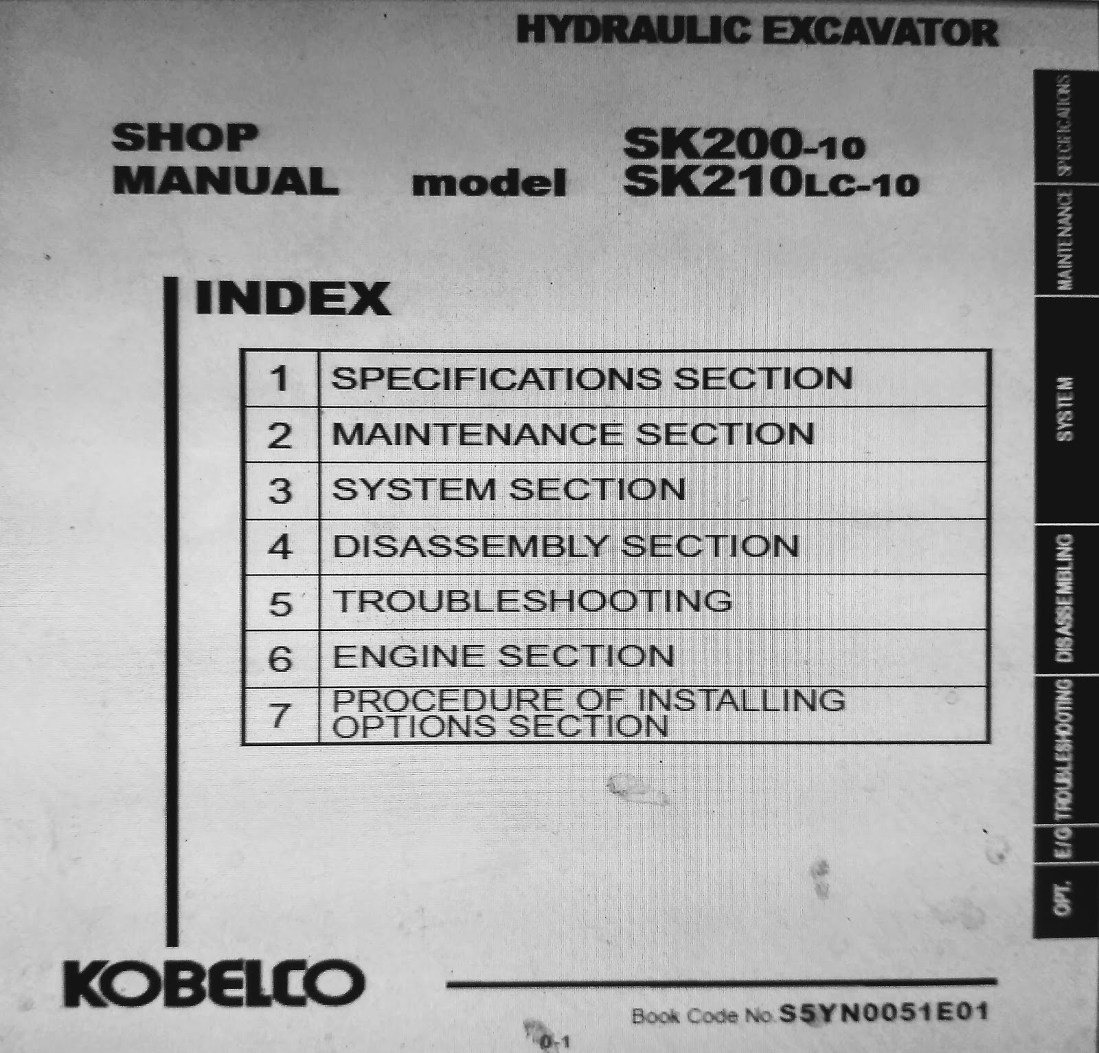 Kobelco Sk200 10 Sk210lc Shop Manual Berita Book Sk210 Wiring Diagram 1