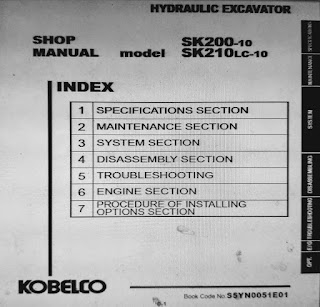 Kobelco SK200-10 SK210lc-10 Shop Manual