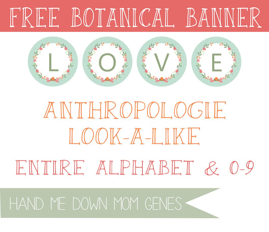Anthropologie Look-a-Like: Botanical Banner