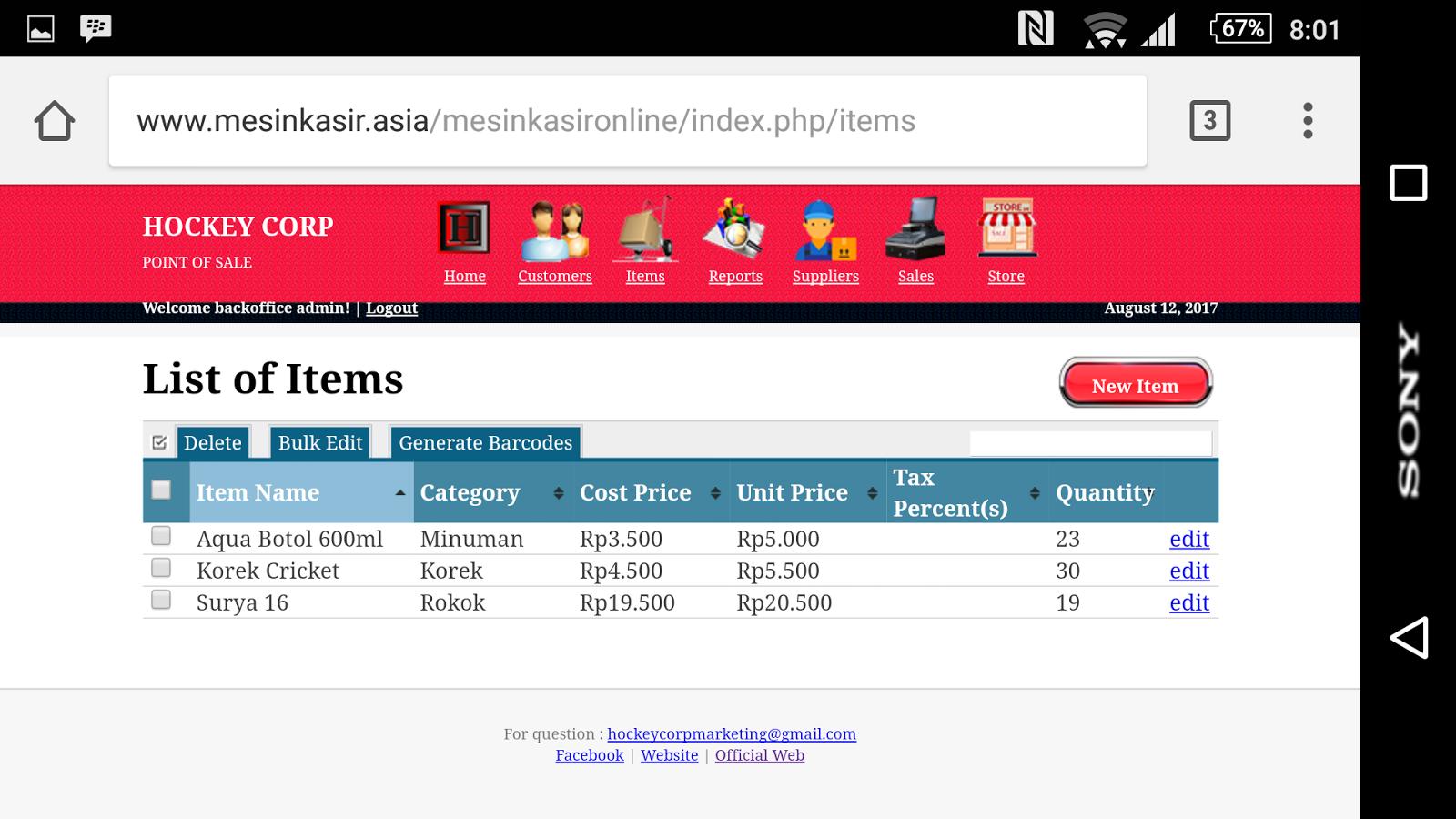 Software program aplikasi mesin kasir online