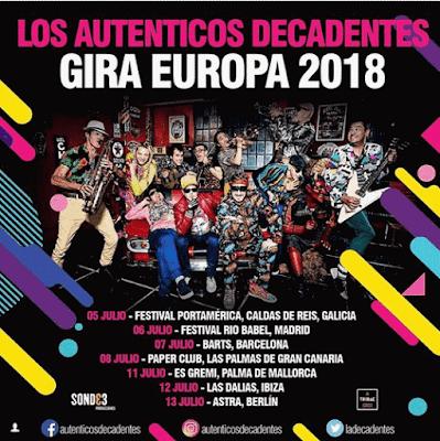 Los Decadentes anuncian gira europea.