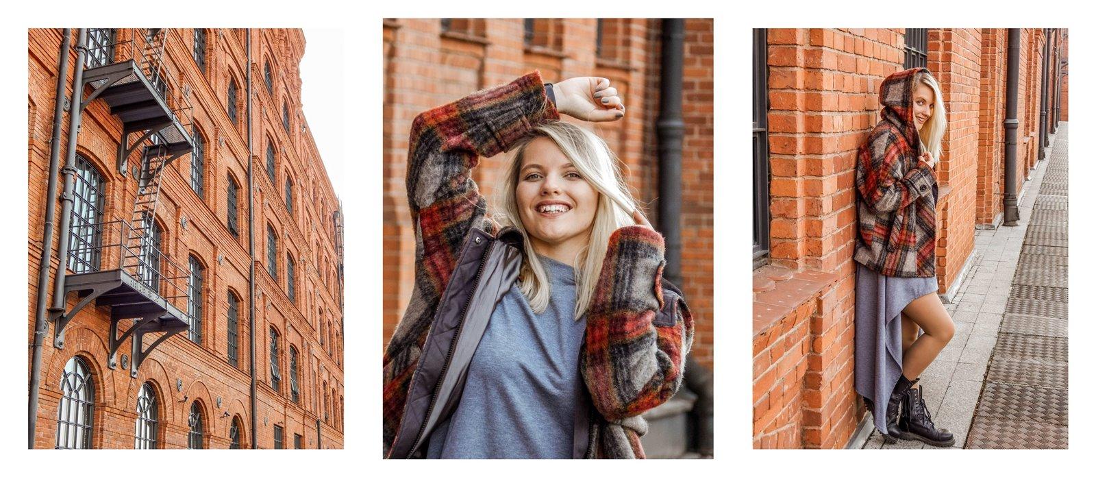 5a płaszcz - ubranie, moda polska, hot moda, moda damska jesień 2018, moda for you, net moda, blog, blogerki fashion łódź anataka kurtka w kratkę ciepła kurtka stylizacje w co się ubrać eleganckie kurtki blondynka
