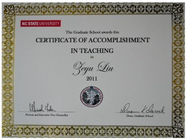certificate teacher texas certification teaching graduate tr71 state nc ncsu science examples program zeyu csc faculty edu