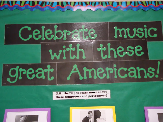 Black History Month: Celebrate music with these great Americans! bulletin board