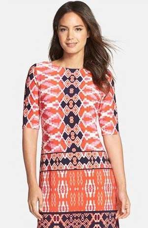 Model atasan batik kombinasi kain polos kasual untuk wanita