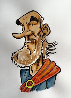 Personnage écossais créé pour un pub écossais qui ouvrira sur Angers durant le mois. Ce personnage à été finalement non retenu. Ça tombe bien car je pense que cette inspiration de Sean Connery est un petit peu trop proche dans mon esprit du Sean d'Uderzo dans l'Odyssée d'Asterix. ©Guillaume Néel