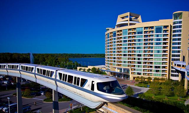 Monotrilho da Disney no hotel Bay Lake Tower Contemporary Resort