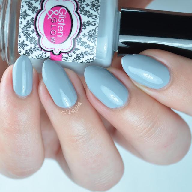 Gray creme nail polish