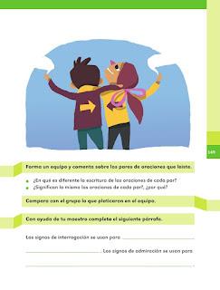 Apoyo Primaria Español 1er grado Bimestre 4 lección 11 ¿Qué indican los signos?