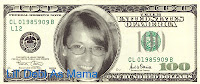 Lil' Debi As Mama on the $100 bill