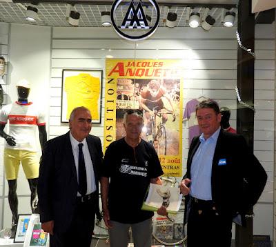 GRAND-QUEVILLY. Daniel Letellier, fan de Jacques Anquetil depuis toujours, arrête la compétition et expose au centre commercial Sud 3.
