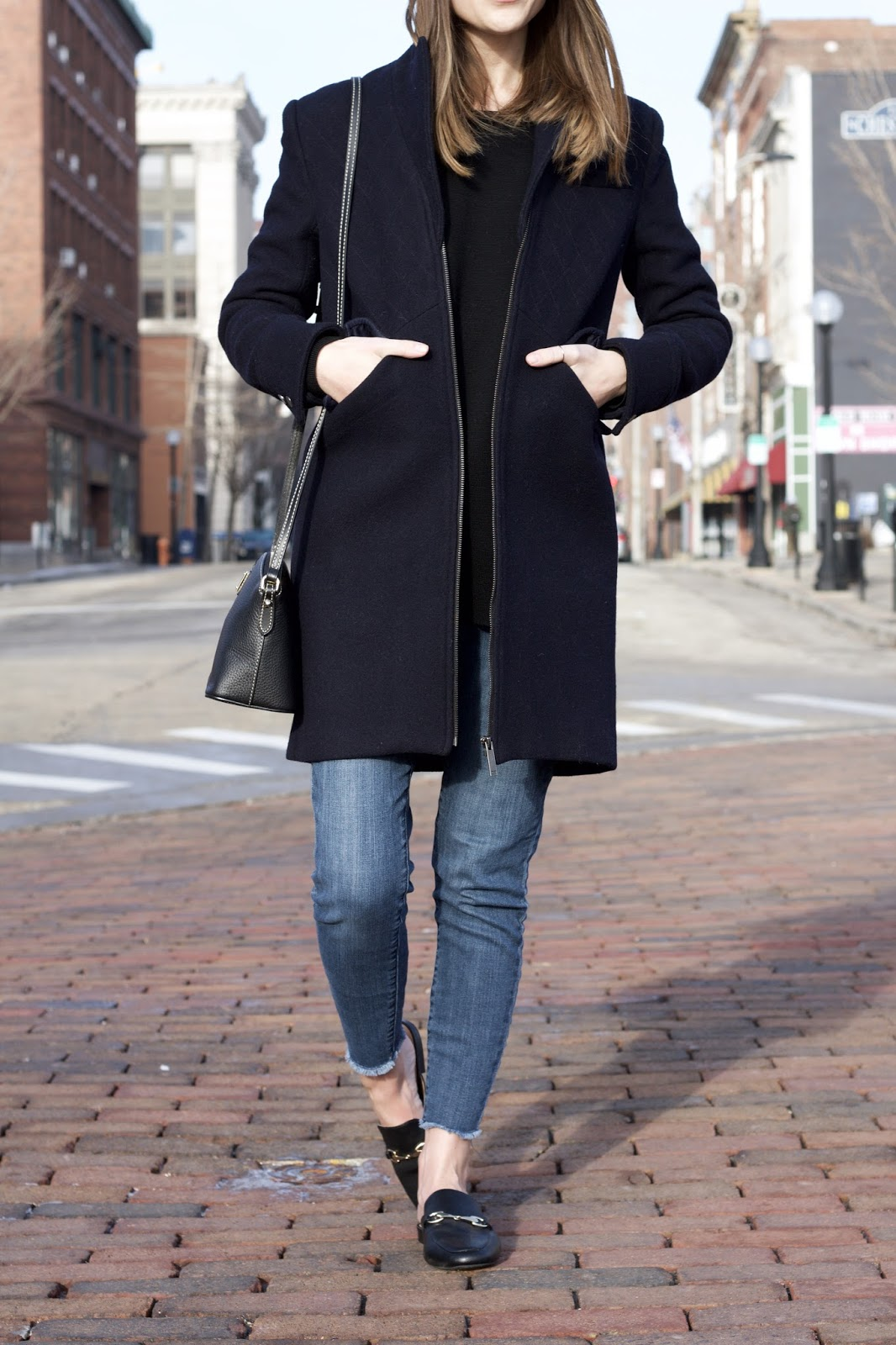 Asobio Collection Women's Navy Wool Coat
